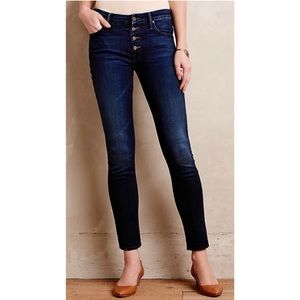 MOTHER The Pixie Button Fly Skinny Jeans